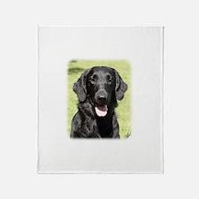 Flat Coated Retriever 9Y040D-040 Throw Blanket