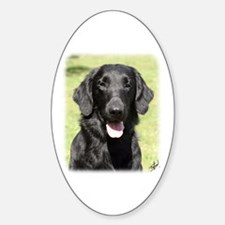 Flat Coated Retriever 9Y040D-040 Sticker (Oval)