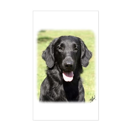 Flat Coated Retriever 9Y040D-040 Sticker (Rectangl