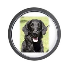 Flat Coated Retriever 9Y040D-040 Wall Clock