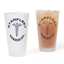 Starfleet Medical Drinking Glass