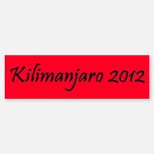 Kilimanjaro 2012 Bumper Bumper Sticker
