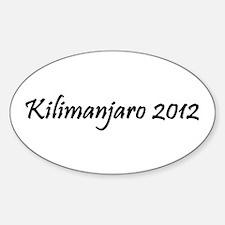 Kilimanjaro 2012 Sticker (Oval)