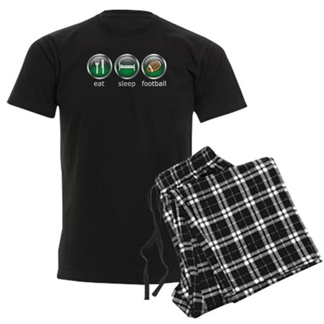 Eat Sleep Football : Men's Dark Pajamas