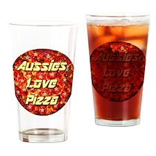 Aussies Love Pizza Drinking Glass