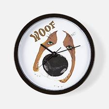 Big Nose Says Woof Wall Clock