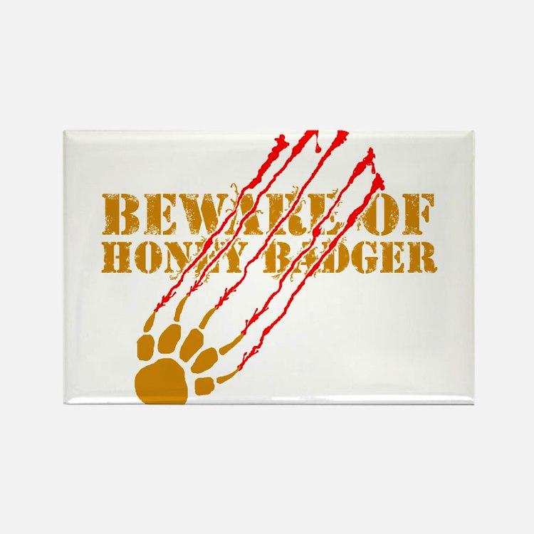 New SectionBeware of honey ba Rectangle Magnet (10
