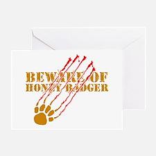 New SectionBeware of honey ba Greeting Card