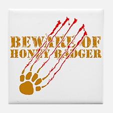 New SectionBeware of honey ba Tile Coaster