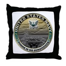 USN Navy There is No Substitu Throw Pillow