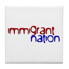 IMMIGRANT NATION Tile Coaster