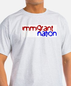 IMMIGRANT NATION Ash Grey T-Shirt