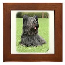 Skye Terrier 9Y766D-039 Framed Tile