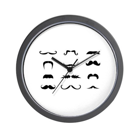 Moustache collection Wall Clock