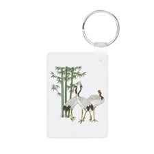 Crane & bamboo Keychains