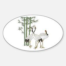 Crane & bamboo Decal