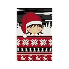 Cute Christmas Elf Magnet