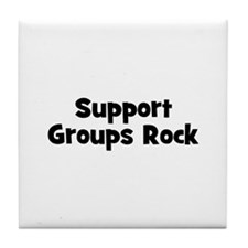 Support Groups Rock Tile Coaster