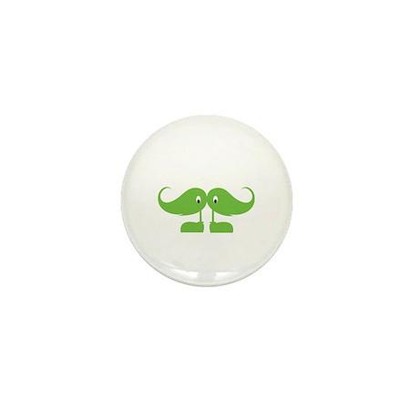 Mr Moustache Mini Button