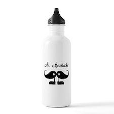Mr Moustache Sports Water Bottle