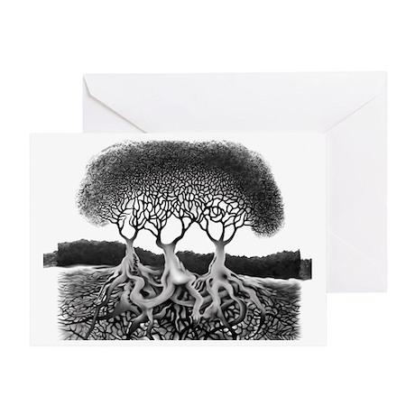 Three Tree Greeting Card