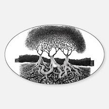 Three Tree Sticker (Oval)