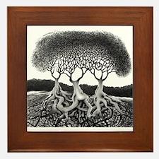 Three Tree Framed Tile