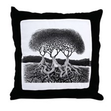 Three Tree Throw Pillow