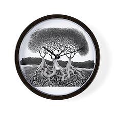 Three Tree Wall Clock
