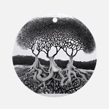 Three Tree Ornament (Round)