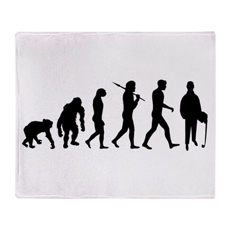Accountant Evolution Throw Blanket