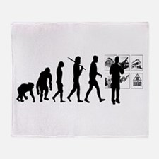 Advertising Evolution Throw Blanket