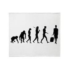 Flight Attendant Evolution Throw Blanket