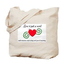 Just a Word Tote Bag