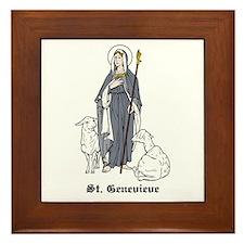 St. Genevieve Framed Tile