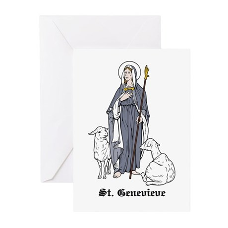St. Genevieve Greeting Cards (Pk of 10)
