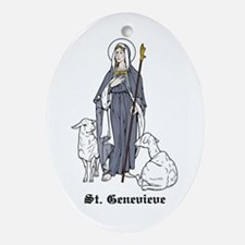 St. Genevieve Oval Ornament