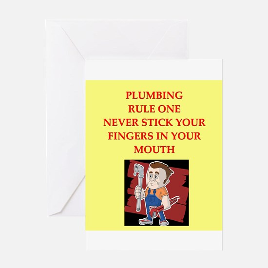 plumbing joke Greeting Card