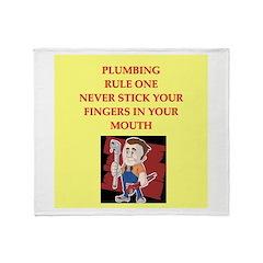 plumbing joke Throw Blanket