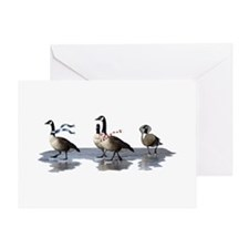 Cool Geese Greeting Card
