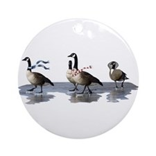 Cool Geese Ornament (Round)