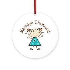 Massage Therapist Gift Ornament (Round)