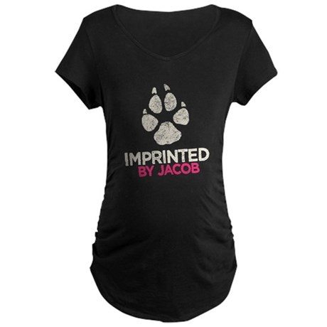 Imprinted by Jacob Maternity Dark T-Shirt