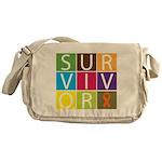 COPD Survivor Color Block Messenger Bag