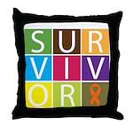 COPD Survivor Color Block Throw Pillow
