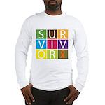 COPD Survivor Color Block Long Sleeve T-Shirt