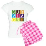 COPD Survivor Color Block Women's Light Pajamas