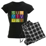 COPD Survivor Color Block Women's Dark Pajamas
