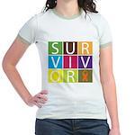 COPD Survivor Color Block Jr. Ringer T-Shirt