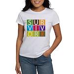 COPD Survivor Color Block Women's T-Shirt